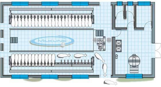 Milkline parlor plans goatvet is always interested in for Dairy barn plans