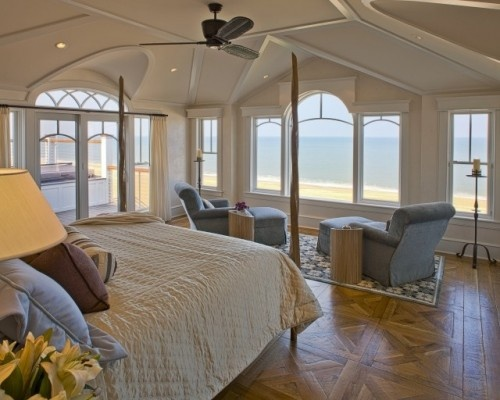 contemporary bedroom by Dewson Construction Company: Dreams Bedrooms, Idea, Four-Post, Beaches Houses Bedrooms, Window, Beach Houses, The View, Master Bedrooms, Ocean View