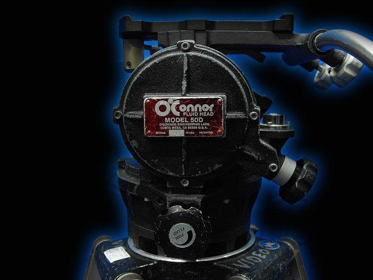 Peter Lisand Wooden Tripod, O'Connor 50D Fluid Head, 1 Arm, Metal Spreader & Hard Shell Case -
