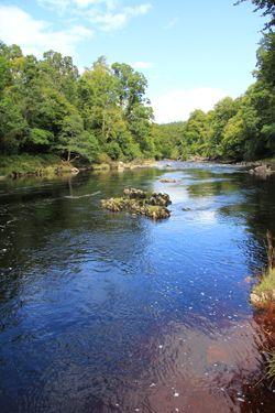 River Findhorn - a short walk from Logie Steading. www.logie.co.uk