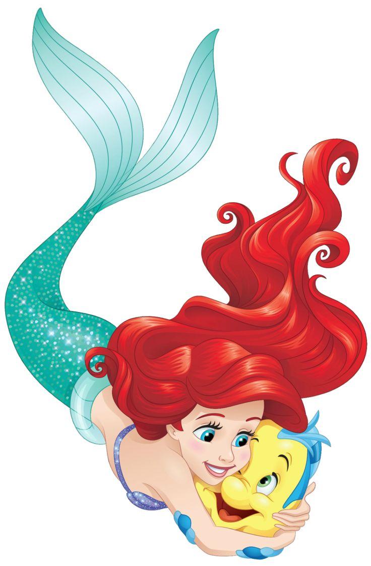 Nuevo artwork/PNG en HD de Ariel con Flounder - Disney Princess