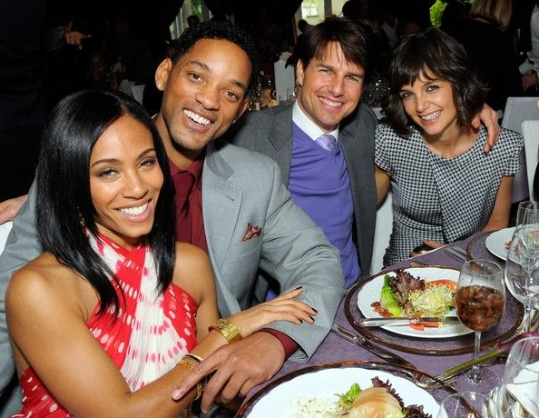"BFFs - Tom Cruise & Katie Holmes mingled with famous friends like Will and Jada Pinkett Smith. Cruise introduced Will Smith to Scientology years back and they remain close friends. Smith said about his pal that year: ""When I sit and I talk with Tom Cruise, he is one of the greatest spirits that I've ever met – someone who is committed to making the world better."""