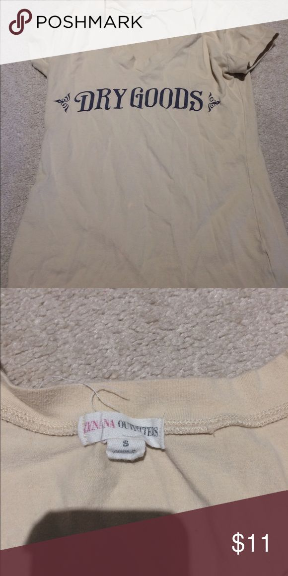 beige tee shirt dry goods beige colored tee shirt dry goods Tops Tees - Short Sleeve