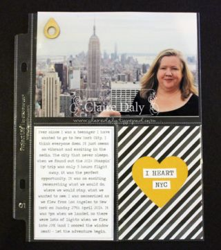 Project Life 6x8 page. Stampin' Up! Australia: Claire Daly Independent Demonstrator Melbourne