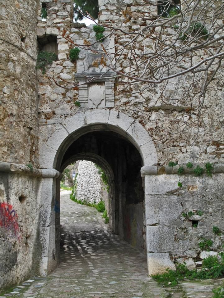 Akronafplia Castle gate, Nafplion, Greece