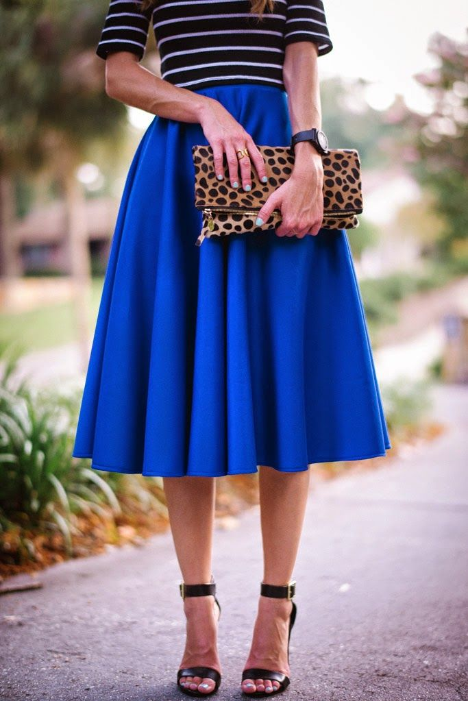 I love fun, twirly skirts! (This color may be a bit too bright for me.) So classy!