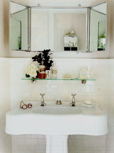 Glamorous bathroom accessorizing and styling clock