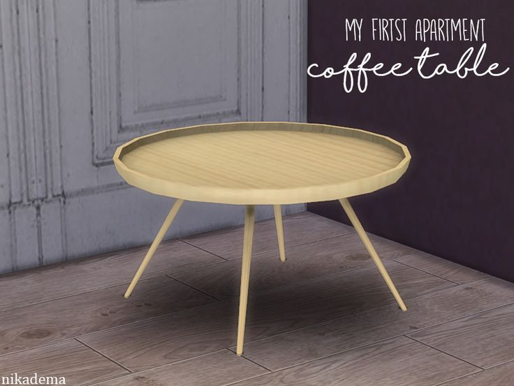 to make this table I got the inspiration from the scandinavian style  Found in TSR Category 'Sims 4 Coffee Tables'