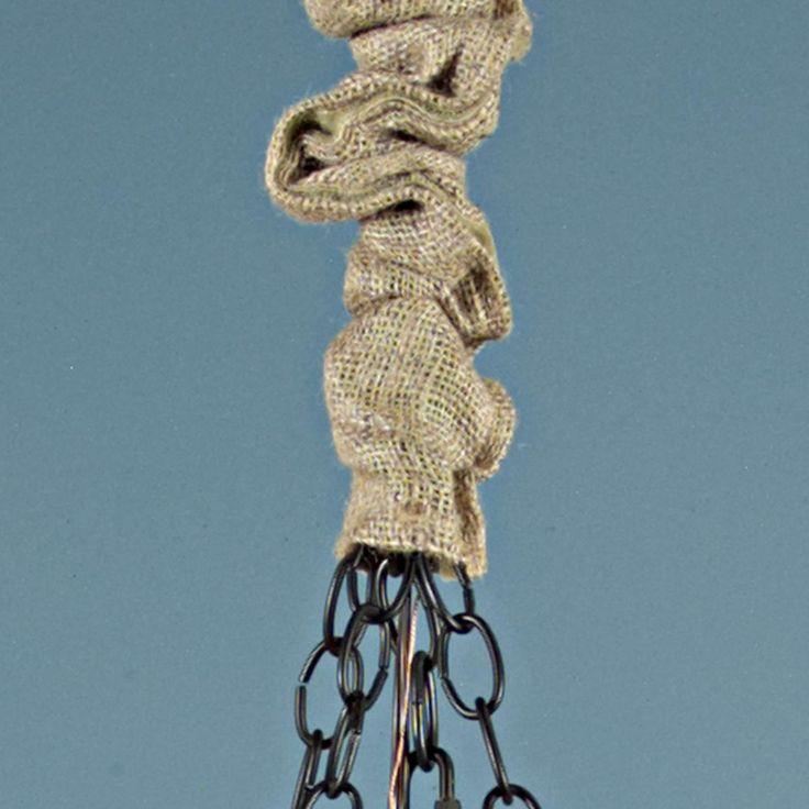 Burlap Chandelier Chain Cover