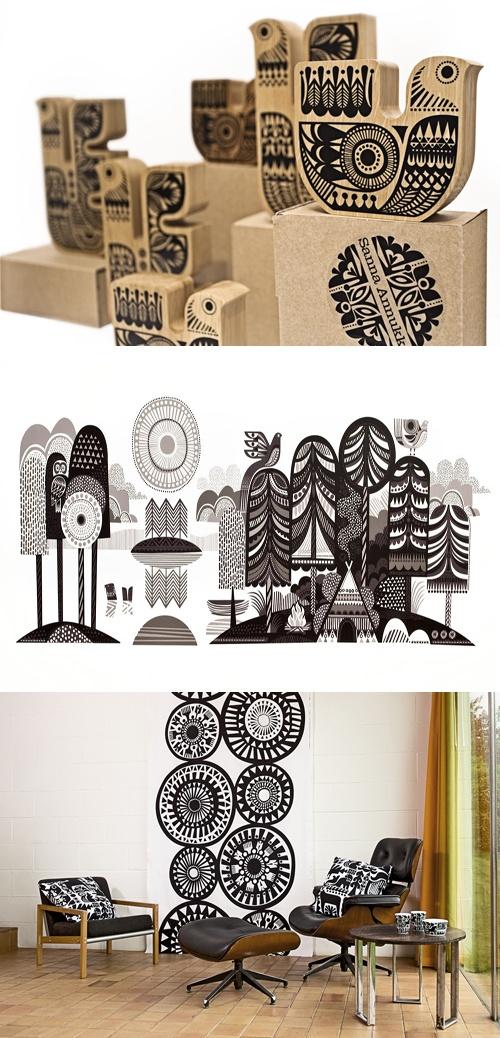 Circular patterned stamps