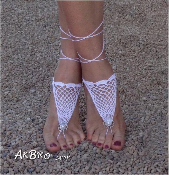 Haak Barefoot Sandals strand zwembad Nude schoenen voet door AkBro