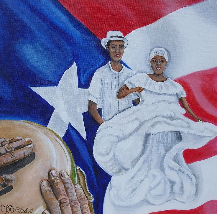 This is a 16x16 painting I did celebrating my Puerto Rican roots. I have always loved the traditional dances from the island. I wanted to paint a painting commemorating the dance Bomba. I love the dresses the women wear and how they flow to the sound of the drum. I hope you enjoy! Thank you! Available for sale.$100.00