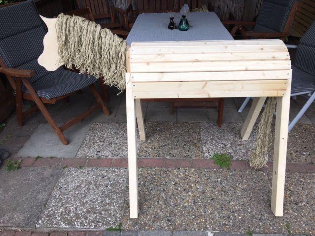 Holzpferd Voltigierpferd Spielpferd Für Den Garten  | eBay