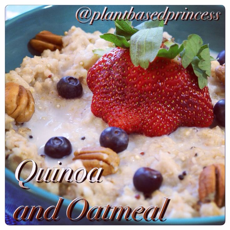 Oatmeal with quinoa, fresh berries, maple, and brown sugar. #oatmeal ...