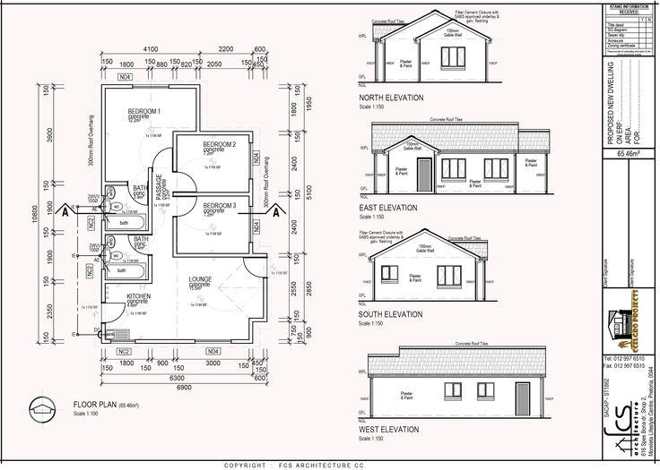 3 Bedroom, lounge, kitchen and bathroom
