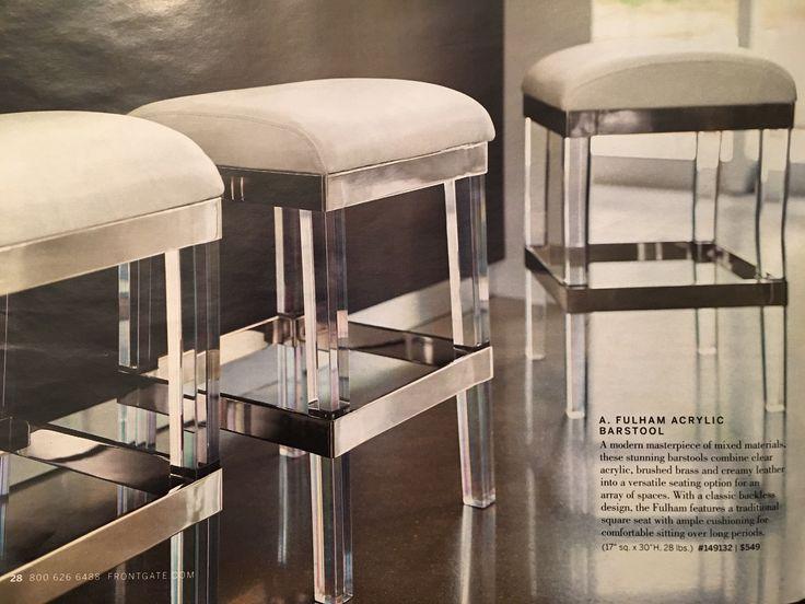Frontgate | Fulham Acrylic Barstool