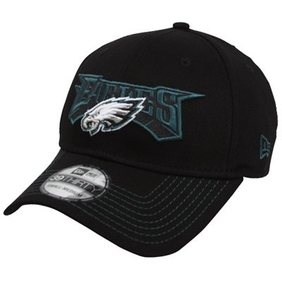 New Era Philadelphia Eagles Game Day 39THIRTY Flex Hat - Black
