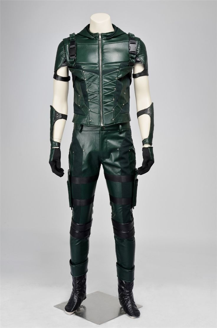 Green Arrow Season 4 Oliver Queen Cosplay Costume For Halloween Party