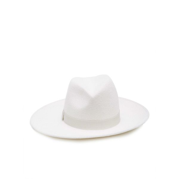 Eugenia Kim Dita 'Incognito' Hat ($495) ❤ liked on Polyvore featuring accessories, hats, white, white fedora, eugenia kim hats, white hat, white fedora hat and fedora hats