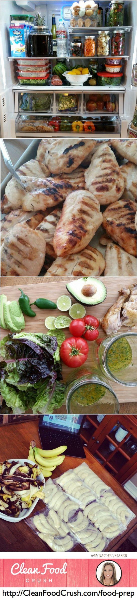 Food Prep Sunday – How to do weekly food and fridge preparation. #foodprep