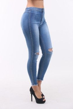 This trendy knee cut skinny jeans is very comfortable and you can combine it very easily. Its now available for only 22 EUR at www.fashionparadise.eu Fast delivery and No Return Fee Shop this lovely jeans here : www.fashionparadise.eu/Sale/en