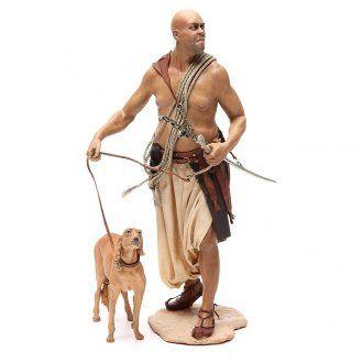 Siervo con perro 30 cm Angela Tripi   venta online en HOLYART