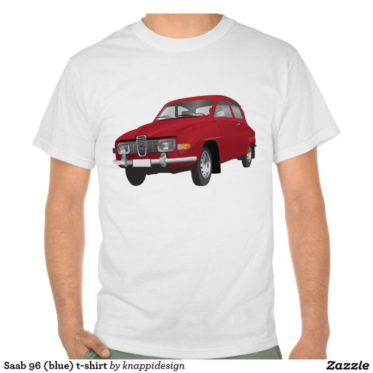 Saab 96 (red) t-shirt  #saab #saab96 #automobiles #automobile #tshirt #tshirts #bilar #car #tröja #skjorta #tpaita #sweden #svenska #sverige #swedish