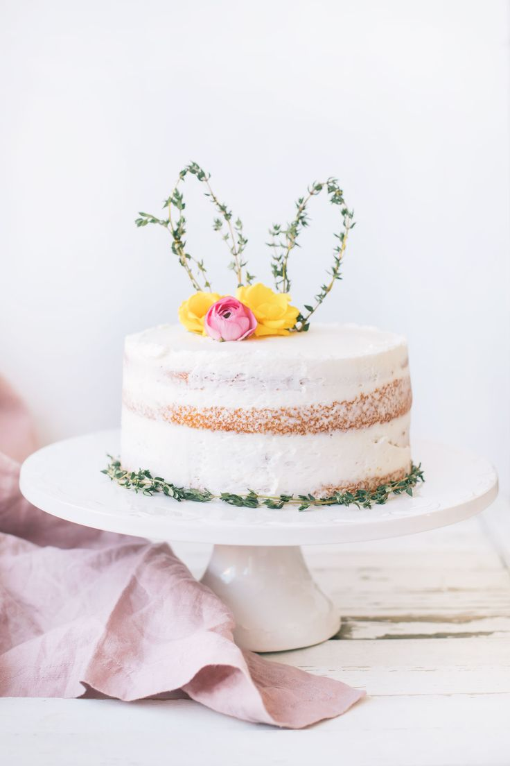 Easy Easter DIY: Thyme Bunny Ear Cake Topper | The Blondielocks | Life + Style