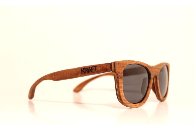 The Point wayfarer style wooden sunglasses by Kraft eyewear