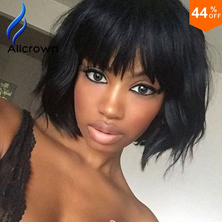 Wavy Bob Full Lace Human Hair Wigs With Baby Hair Brazilian Lace Front Wigs With…