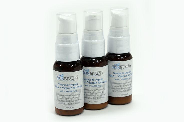 Retinol 5% Glycolzuurcrème 30ml. Perfecte crème voor het stimuleren van de collageenproductie, voor het verminderen van fijne lijntjes en om celvernieuwing te stimuleren. Bevat de hoogste hoeveelheid retinol beschikbaar zonder voorschrift.