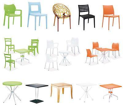Kunststoff Gartenmöbel Set Design Plastik Gartenstuhl Gartentisch Stapelstuhl