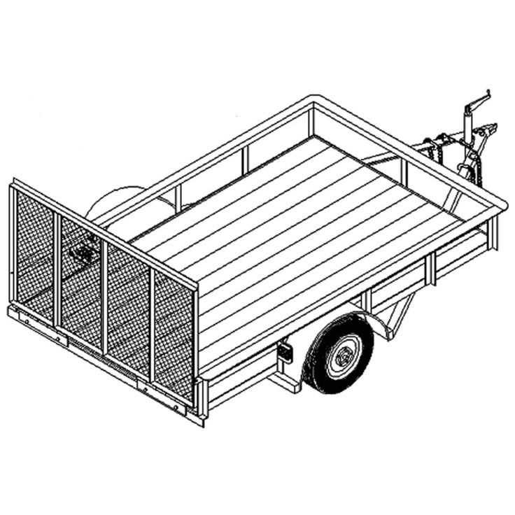 17 best ideas about 5x8 utility trailer on pinterest