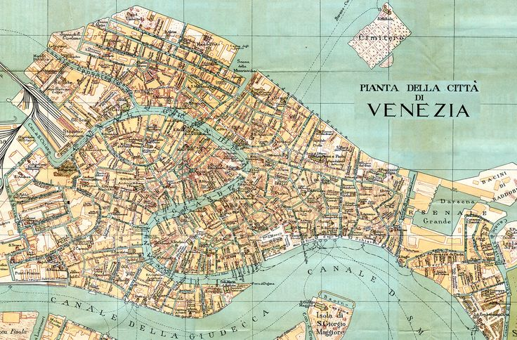 Vintage map of Venice, new (It's free for any use... the image is in the public domain - 200dpi 2000x1317px) Source: http://www.tourvideos.com/maps-Venice.html