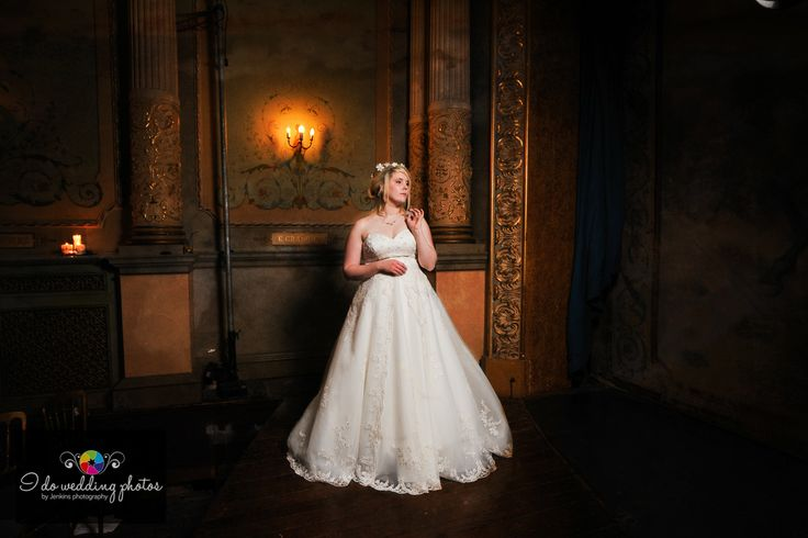 Wedding at Criag Y Nos Castle in the Patti Theatre.