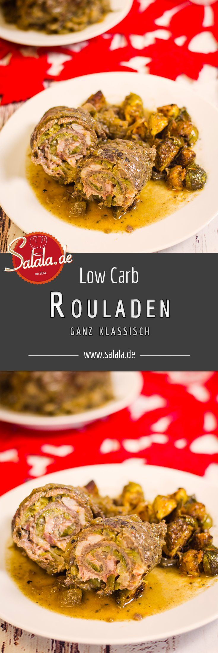 Rouladen Rinderrouladen klassisch - by salala.de - Low Carb Hauptgericht saftig lecker klassisch mehlfrei kohlenhydratarm