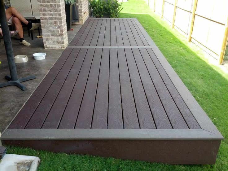 Simple Two Tone Composite Deck In 2019 Floating Deck