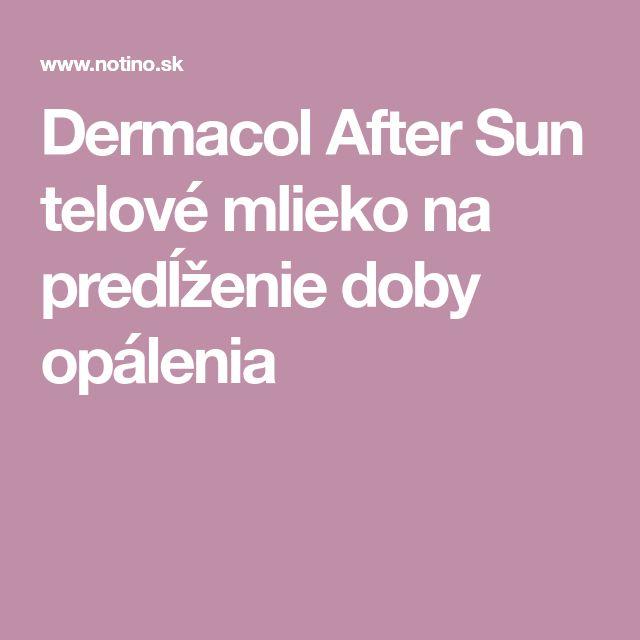 Dermacol After Sun telové mlieko na predĺženie doby opálenia