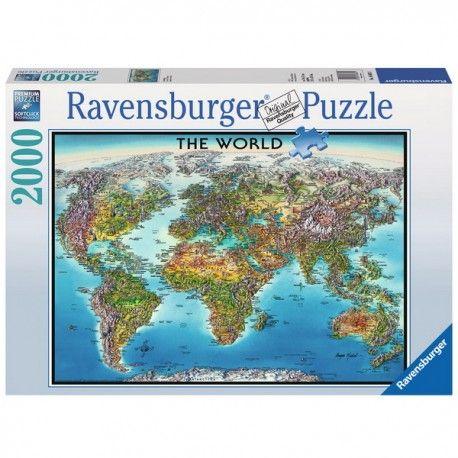 Világtérkép, Ravensburger puzzle 2000 db
