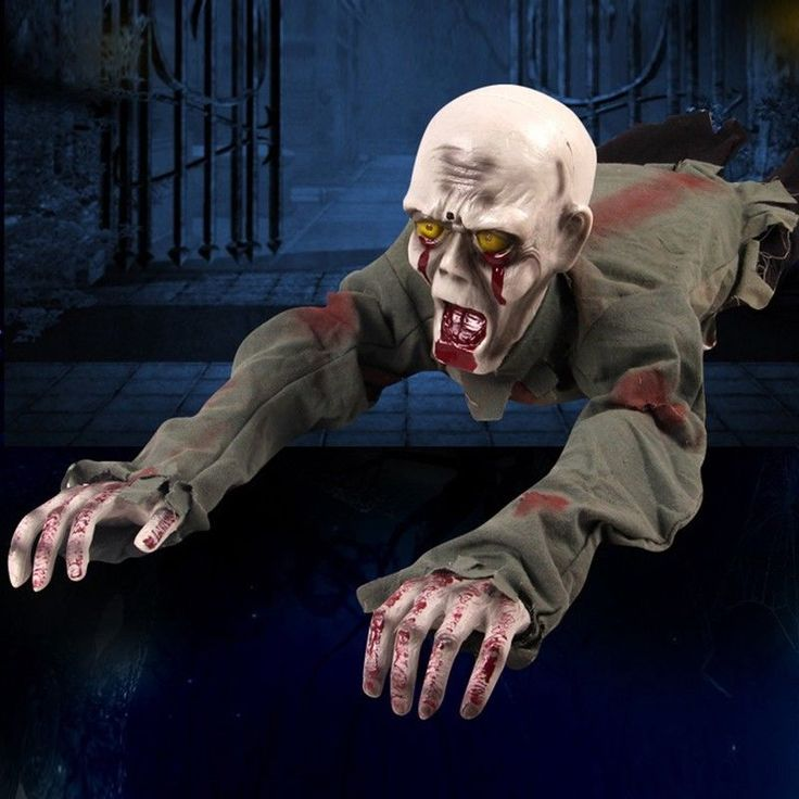 Halloween Prop Screaming Crawling Zombie Haunted House Pub Club Decor Supply