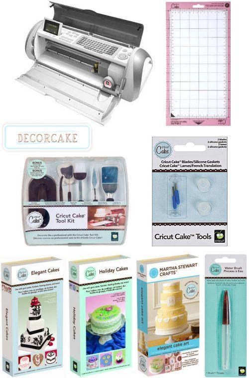 cricut cake cutter + accessories