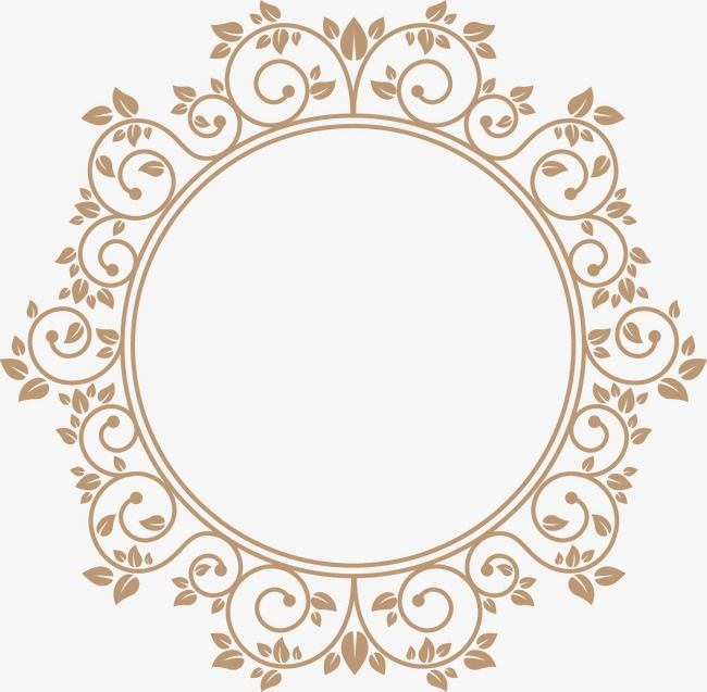 Continental Circular Border Round Frame Vector Png