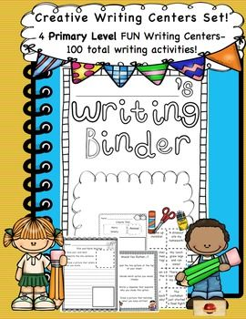 This set includes 4 different silly and imaginative writing centers, with 100…