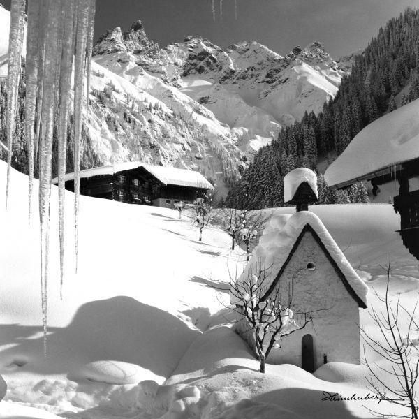 Zauberhaftes Winterbild des verschneiten Einödsbachs. Bilder aus der Heimat…