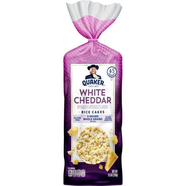 Quaker rice cakes white cheddar 55 oz bag