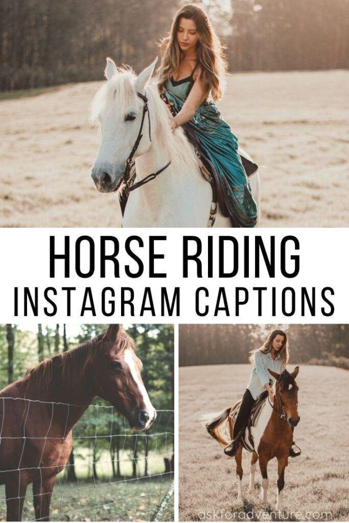 30 Short Horse Riding Captions For Instagram Pictures Instagram Captions For Pictures Instagram Captions Horses