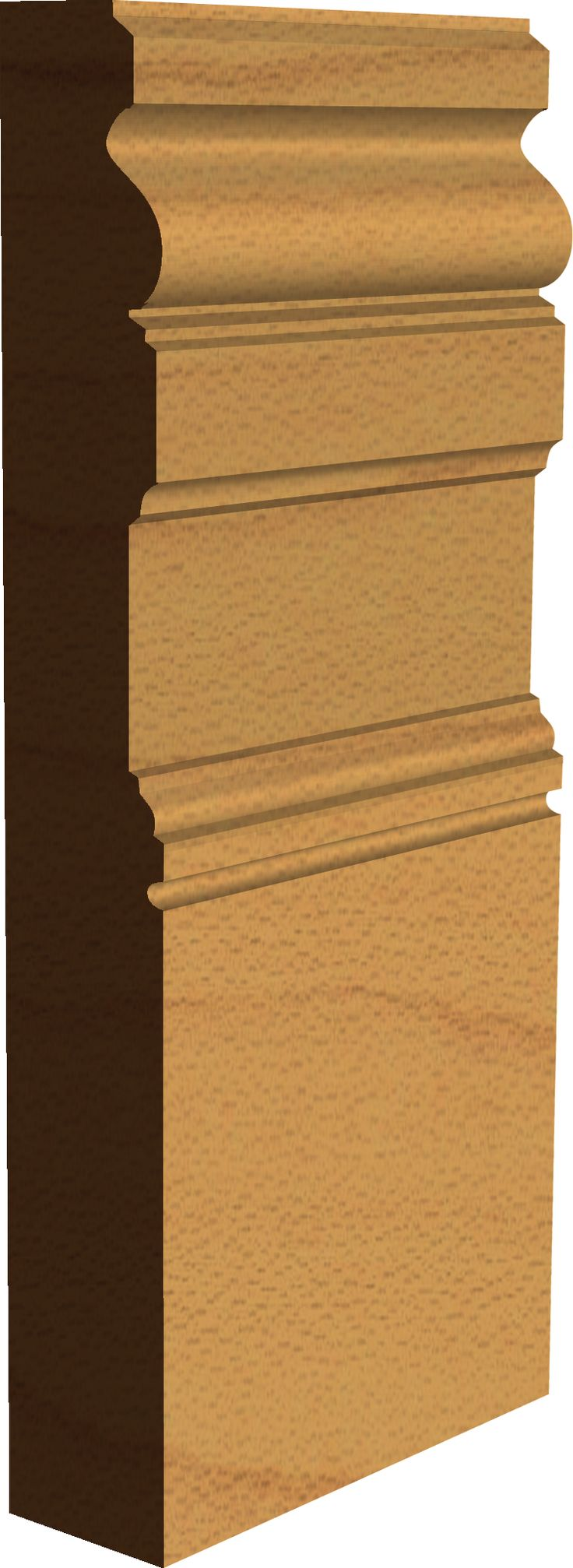 "Edwardian Interior Architectural Skirting Board - ""Grosmont""  Made by Period Mouldings - www.periodmouldings.co.uk"