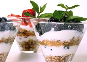 Honey Yogurt Parfait • 24 ozs. Vanilla Yogurt • 3 T Orange Blossom ...