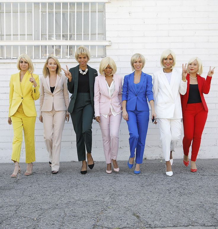 Hillary Clinton Pantsuit Squad | Halloween Costume DIY – Sydne Style