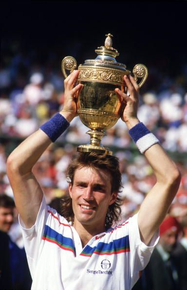 Pat Cash winning Wimbledon in 1987